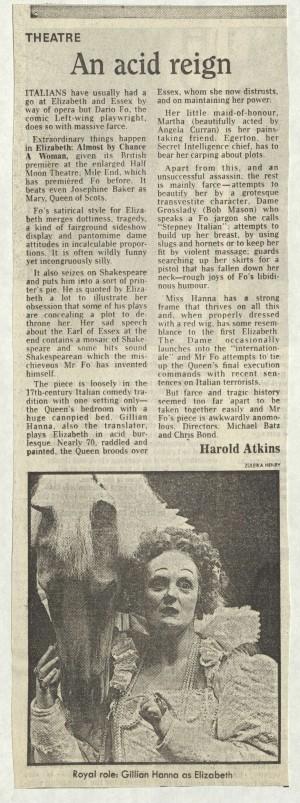 Harold Atkins, The Daily Telegraph, 11 November 1986