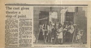 Press Feature - Julie Fairhead, Evening Standard, 19 July 1983