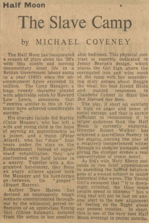 Michael Coveney, The Financial Times, June 1977