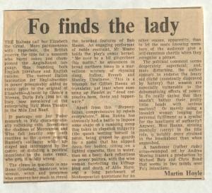Martin Hoyle, The Financial Times, 8 November 1986