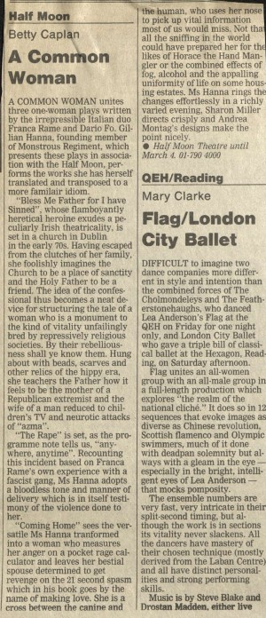 Betty Caplan, The Guardian, 14 February 1989