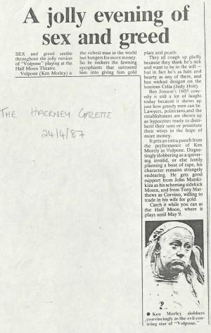 The Hackney Gazette, 24th April 1987