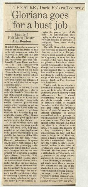 Alex Renton, The Independant, 8 November 1986