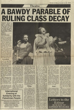 Vicky Scrivener, The News Line, 10 November 1986