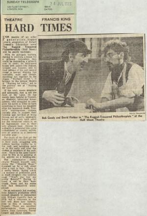 Frances King, Sunday Telegraph, 24th July 1983