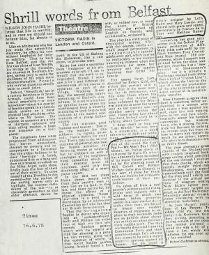 Victoria Radin, The Times June 1978