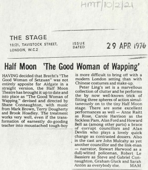 News Reviews 1976 - The Good Woman of Wapping