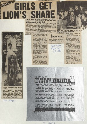 The Lion, The Witch and The Wardrobe, review December 1983