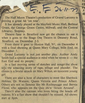 East End Review, 26 November 1977