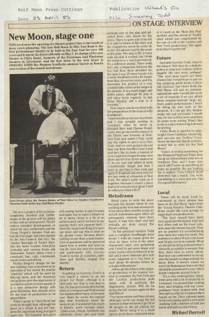 News Reviews What's On, Michael Darvell 1985 - Sweeney Todd (27)
