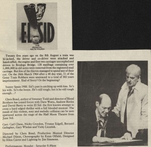 News publication that includes cast list El Sid 1988