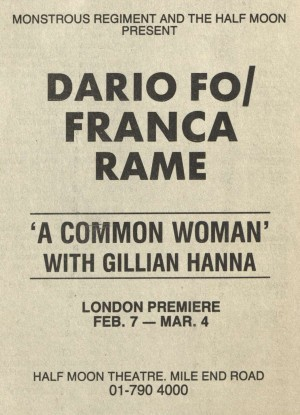 A Common Woman Newspaper Advertisement - 2 February 1989