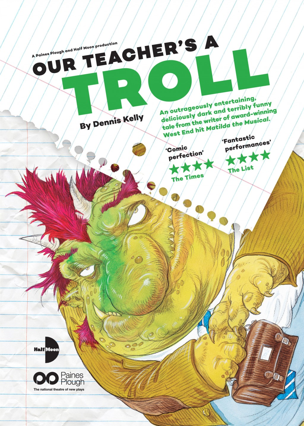 Our Teacher's A Troll Flyer (Front)