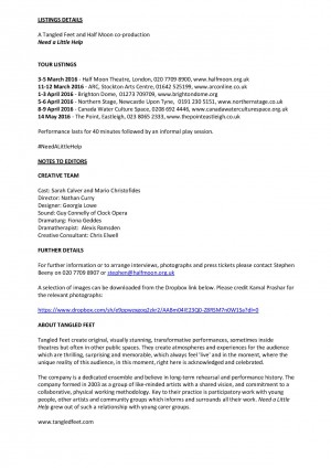 Need a Little Help Press Release (2)