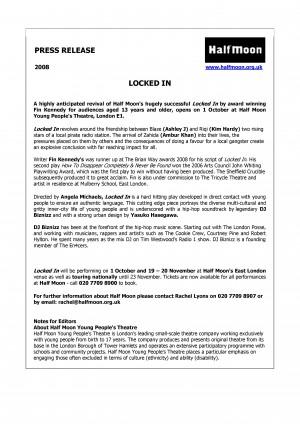 Locked In (2008) Press Release
