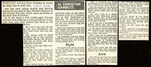 Pal Joey Article - The Mirror - Christine Garbutt - 24th Jul 1980