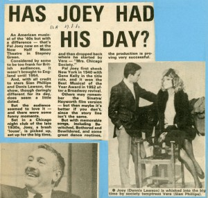 Pal Joey Review - East London Advertiser - 29th Aug 1980