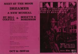 Pal Joey - original Half Moon programme 1
