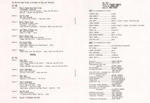 Pal Joey - original Half Moon programme 2