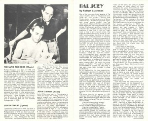 Pal Joey transfer programme from Albery Theatre, 1980 - page 3