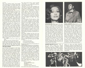Pal Joey transfer programme from Albery Theatre, 1980 - page 4