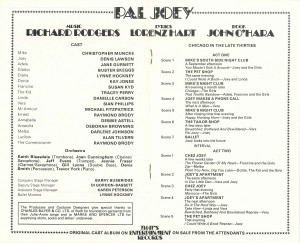 Pal Joey transfer programme from Albery Theatre, 1980 - page 5