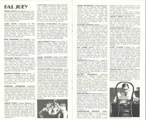 Pal Joey transfer programme from Albery Theatre, 1980 - page 6