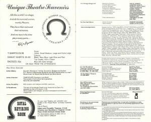 Pal Joey transfer programme from Albery Theatre, 1980 - page 7