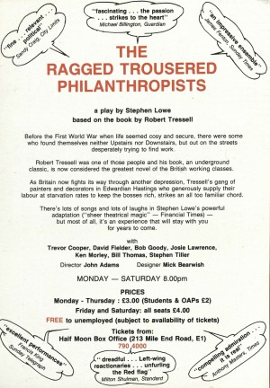 The Ragged Trousered Philanthropist flyer (Back)