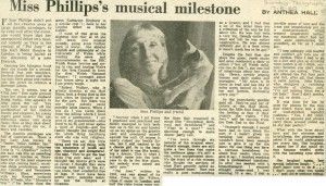 Sian Philips Article - Anthea Hall, Sunday Telegraph, 17 August 1980