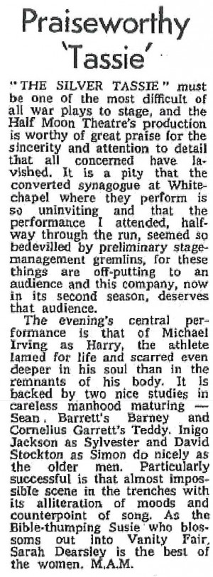 M.A.M, The Stage, 16 November 1972