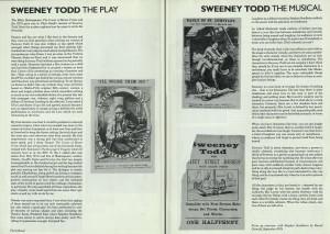 Sweeney Todd programme