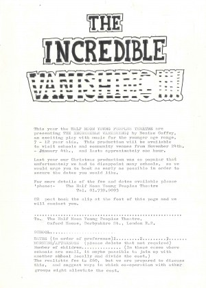 The Incredible Vanishing - Introduction