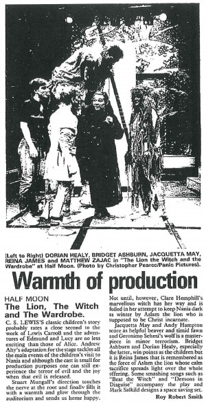 The Lion, The Witch and The Wardrobe - Roy Robert Smith, The Stage, 12 Jan 1984