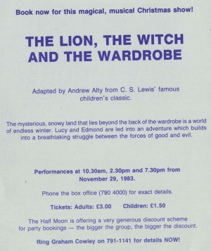 The Lion, The With and the Wardrobe - first flyer back