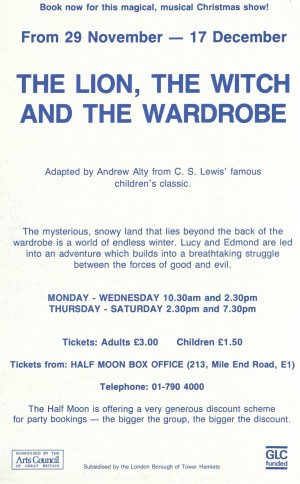 The Lion, The With and the Wardrobe - second flyer back