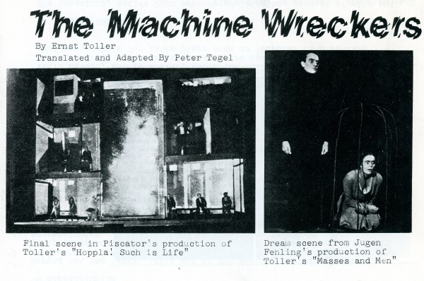 The Machine Wreckers Programme 1