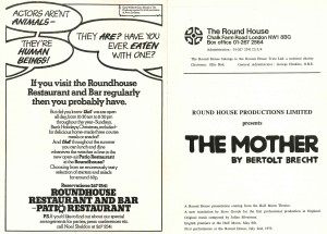 The Mother programme (tour to Round House, 2 July 1973) (2)
