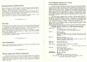 The Mother programme (tour to Round House, 2 July 1973) (4)