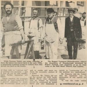 The Ragged Trousered Philanthropist Press Feature - September 1983