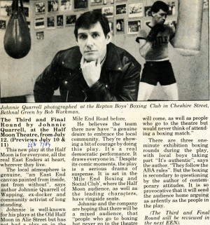 The Third and Final Round Article - East End News - Jul 1984
