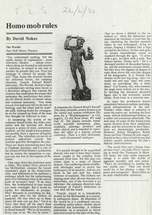 Times Literary Supplement, David Nokes, June 1981