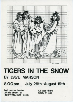 Tigers in the Snow - Flyer (front)