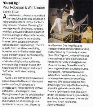 Ronnie Haydon, Time Out Review