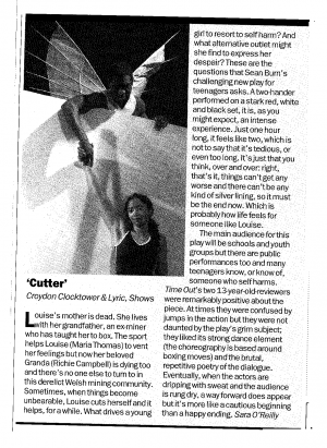 Sara O'Reilly, Time Out Review