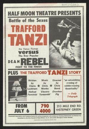 Trafford Tanzi flyer (Front)