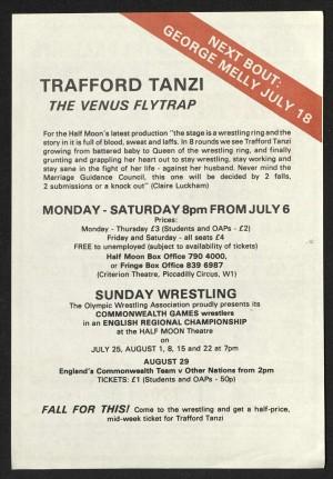 Trafford Tanzi flyer (Back)