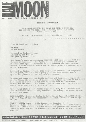 Volpone Listing information (1)