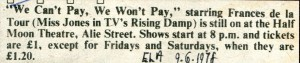 We Can't Pay? We Won't Pay! - East London Advertiser, 9 Jun 1978