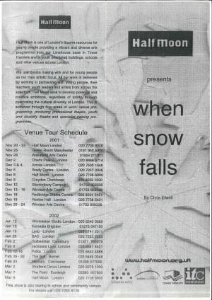 When Snow Falls - Programme (1)